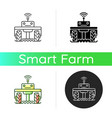 robotics in agriculture icon vector image vector image