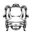 royal chair royal style decotations vector image vector image