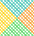 Seamless diagonal gingham pattern in four colors vector image