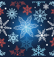 seamless graphic pattern with snowflakes vector image