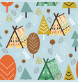 seamless pattern forest in scandinavian style vector image