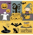 Set traditional elements of Halloween vector image vector image