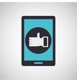smarphone device icon vector image vector image