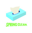 spring clean background vector image