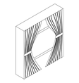 Stage curtains icon isometric 3d style vector image vector image
