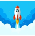 Startup Rocket in the clouds Flat vector image vector image