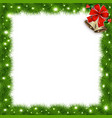 template with christmas tree branches and space vector image