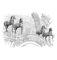 the horses of st marks were carried off to paris vector image vector image