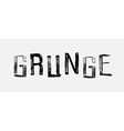The word GRUNGE handwritten grunge brush stroked vector image