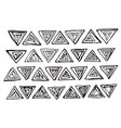 triangles collection vector image vector image