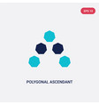 two color polygonal ascendant icon from geometry vector image vector image