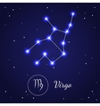 Virgo Zodiac Sign Stars on the Cosmic Sky vector image