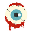zombie eyeball icon isolated vector image vector image