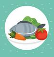 supermarket groceries healthy food vector image