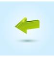 Green back arrow icon vector image
