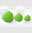 3d realistic green metal plastic blank vector image vector image