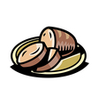 A bread is placed vector image vector image