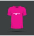 a pink t-shirt vector image