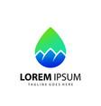 abstract drop mountain company logo design vector image vector image