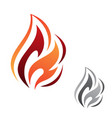 abstract fire flame vector image vector image