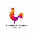 abstract rooster template vector image vector image