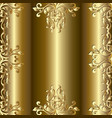 baroque gold seamless frame pattern with place vector image
