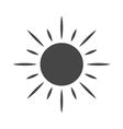 Black design element sun icon vector image