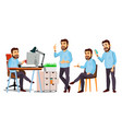 boss character it startup business company vector image vector image