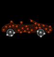 bright mesh 2d cabriolet with light spots vector image vector image