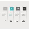Brochures Infographic vector image