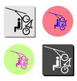 cable car flat icon vector image