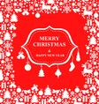 christmas decor sign vector image vector image