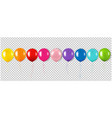 color garland with balloons isolated transparent vector image vector image