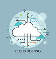 concept of cloud computing service or technology vector image vector image