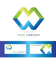 Corporate business media logo vector image vector image