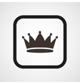 Crown Icon Flat Simple vector image vector image