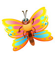 cute butterfly flying on white background vector image vector image
