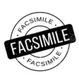 facsimile rubber stamp vector image vector image