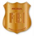fbi spoof shield badge vector image