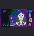 fictional hundred denomination banknote and big vector image vector image
