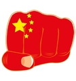Flag of the china on fist vector image vector image