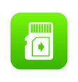 flash drive icon green vector image