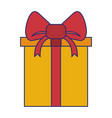 gift in a box wrapped shopping isolated blue lines vector image vector image