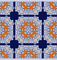 gorgeous seamless pattern azulejo vector image vector image