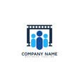 group video logo icon design vector image