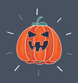 halloween scary jack vector image vector image
