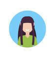 happy brunette girl face avatar little child vector image vector image