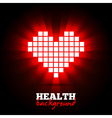 Heart energy health concept vector image vector image