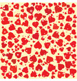 hearts diferent size and color round background vector image vector image
