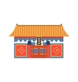 Hung Shing Temple In Hong Kong China Simplified vector image vector image